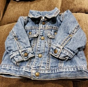Denim Jean jacket with lining size 3-6 months